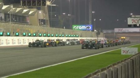2020年F1第15戦のスタート