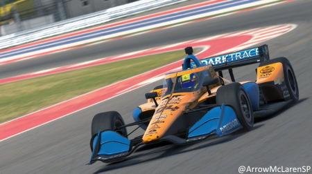 ランド・ノリス、インディカーのバーチャル版で圧勝