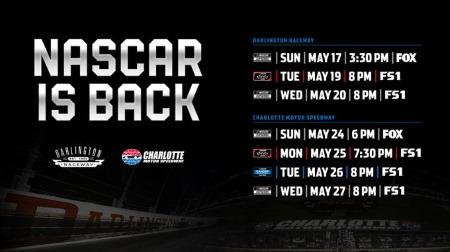 NASCAR、新型コロナの影響で中断していたシリーズを再開へ