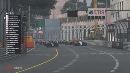 F1バーチャルGP「モナコ」結果