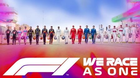 F1が「#WeRaceAsOne」を立ち上げ、コロナや人種差別と戦う