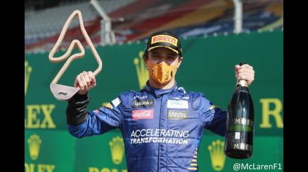 マクラーレンのノリス、力走で初表彰台@F1オーストリアGP決勝