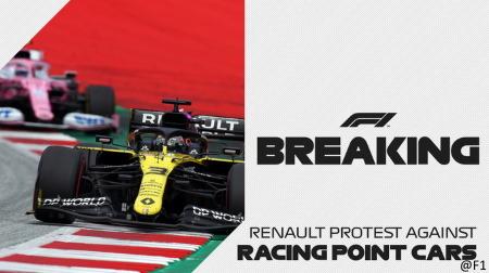 ルノーF1、レーシングポイントのマシンについて抗議