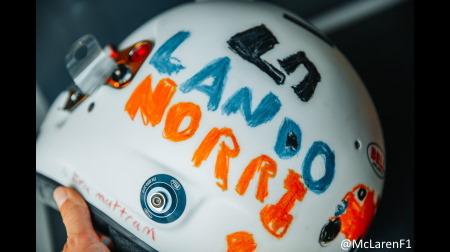 ノリス、6歳児が描いたデザインのヘルメットを採用@F1イギリスGP