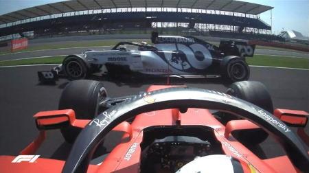 ベッテル、またしても厳しいレースに@F1 70周年記念GP