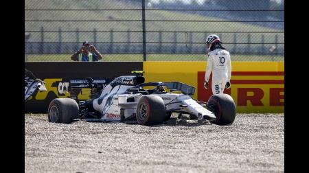 アルファタウリのガスリー、OPラップの事故は「誰にも責任はない」@F1トスカーナGP