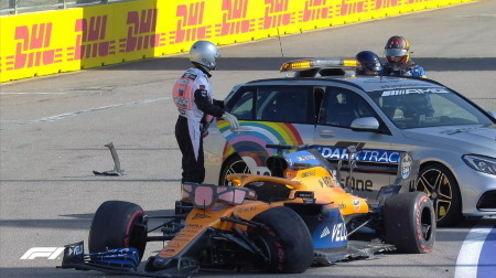 マクラーレンのサインツ、レース後コメント@F1ロシアGP