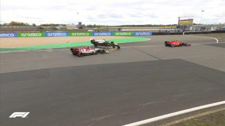 ライコネン、ラッセルと接触でペナルティ&ペナルティポイント@F1アイフェルGP