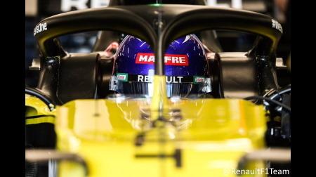 アロンソ、ルノーF1最新型でフィルミング走行