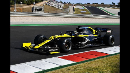 ルノー、リカルドのテストタイヤを取り違い@F1ポルトガルGP初日