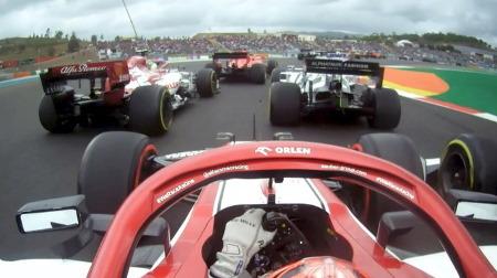 ライコネン、1周目で大幅ジャンプアップのオンボード@F1ポルトガルGP