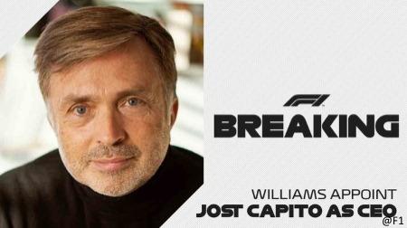ウィリアムズ新CEOにヨースト・カピート