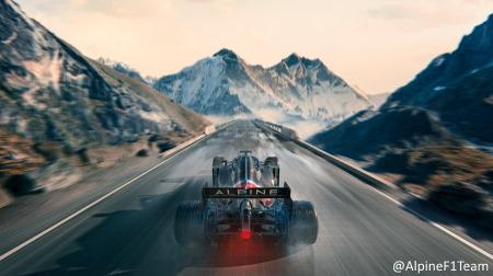 アルピーヌF1、冬季仕様のマシンカラーリングを公開