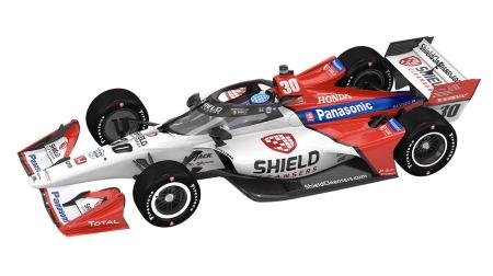 佐藤琢磨のマシンが赤白に@2021インディカーシリーズ
