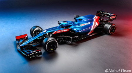 F1新車アルピーヌA521発表