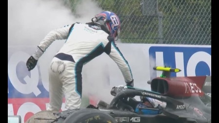 ボッタスとラッセルのクラッシュはラッセルが謝って終了@F1エミリア・ロマーニャGP