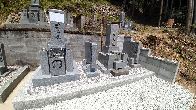 8寸角墓石建立