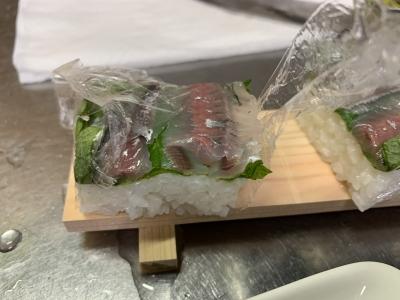切った押し寿司