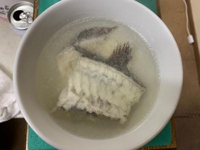 マダイのアラ汁