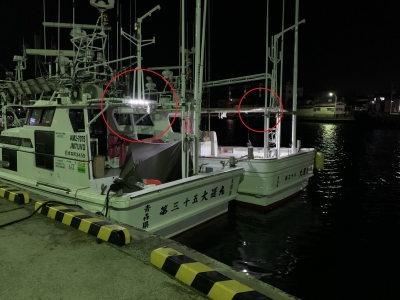 船のLEDライト