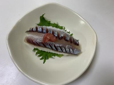 カタクチイワシの握り寿司