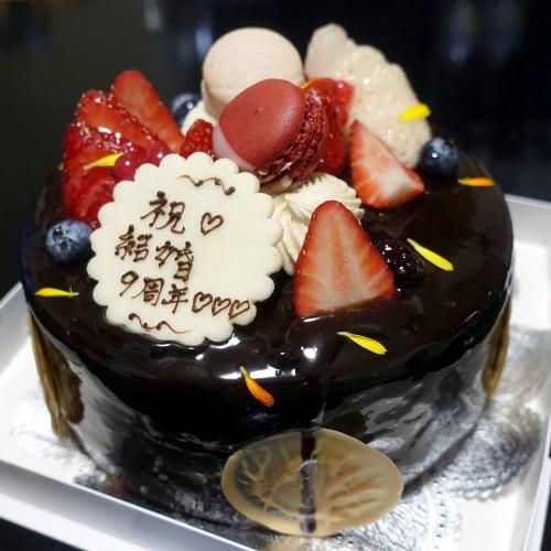 スーリールダンジュ平群店 チョコレートケーキ5号 202101 (12)