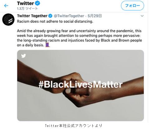 20200604ツイッター本社の『黒人の命は大事だ』