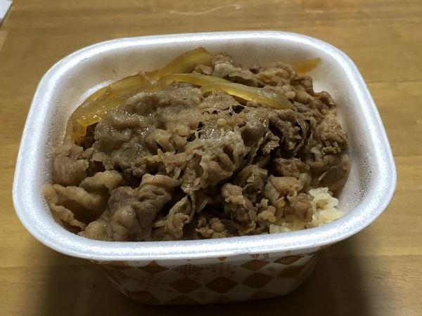 すき家牛丼テイクアウト