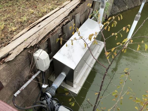 鏡ヶ池浄化装置