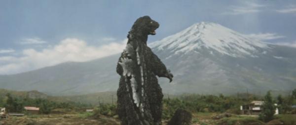 怪獣5ゴジラと富士山