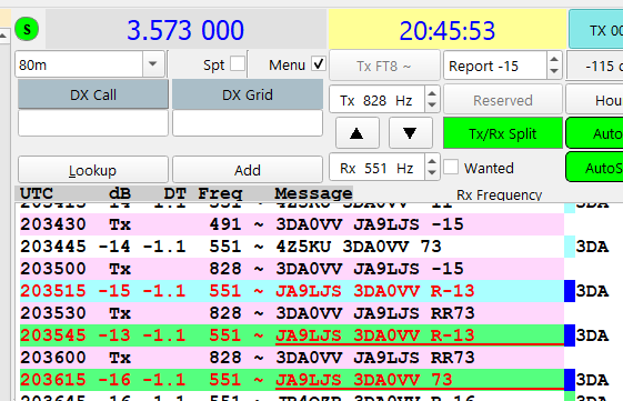 3DA6VV 80m FT8 20200804