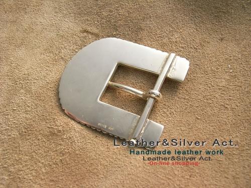 オーダーメイドのベルトバックル製作 純銀