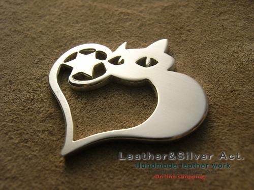 猫 オーダーネックレス シルバー
