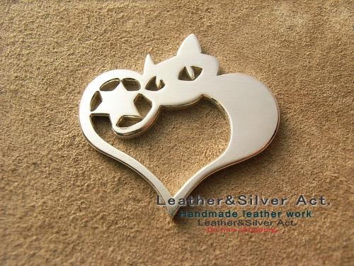猫のオーダーネックレス シルバー