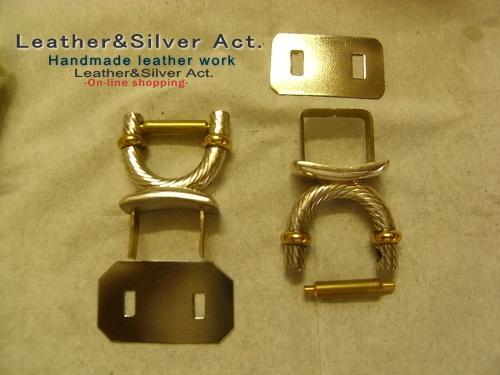 高級バックの金具 シルバー