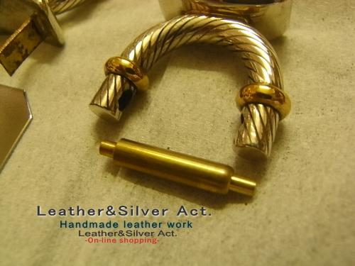 高級バックの金具 シルバー925
