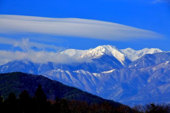 西駒ヶ岳を彩る雲