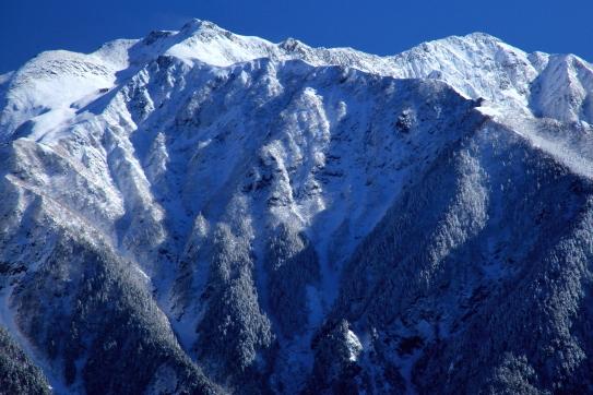 厳冬の仙丈ヶ岳