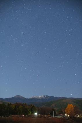 吾妻山と星粒