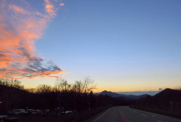 磐梯山へ向かう道