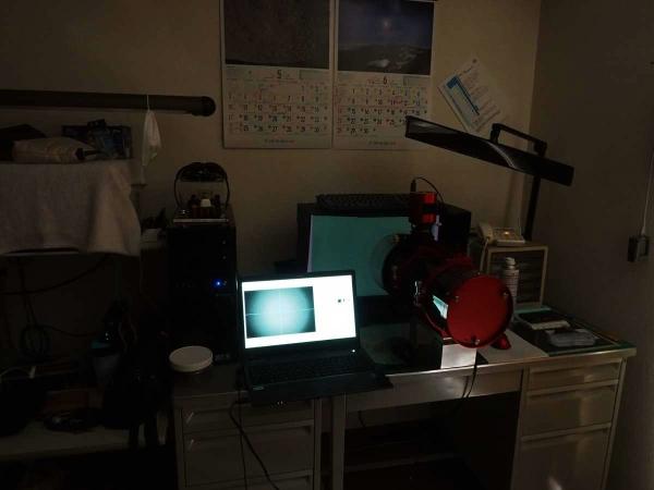 PCモニターによるカラーフラット撮影