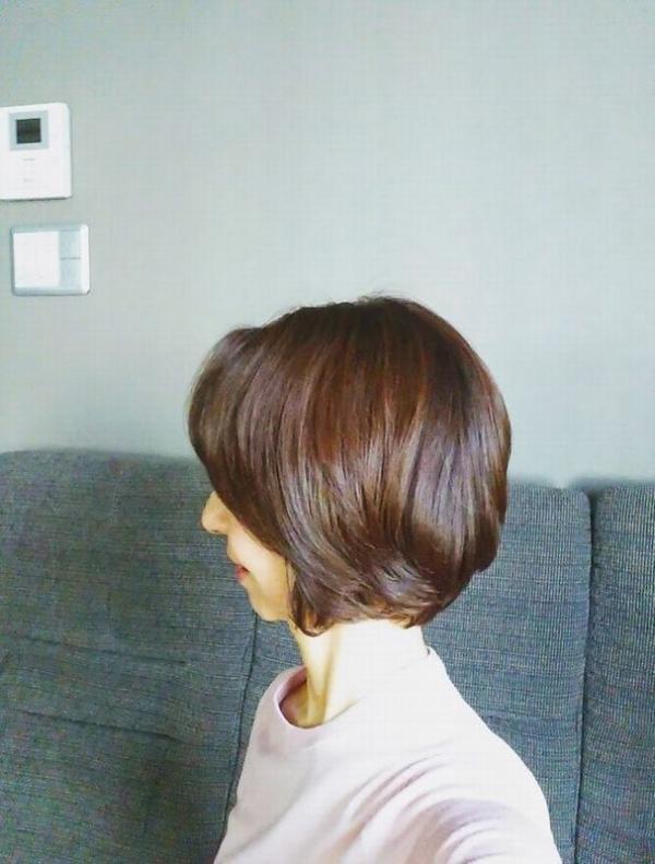 髪の色 美容院から1か月ちょっと