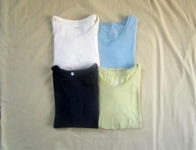 2020夏服の断捨離 ユニクロ無印Tシャツ