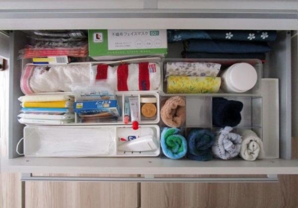 狭いLDK食器棚引き出し 収納 ケースごと