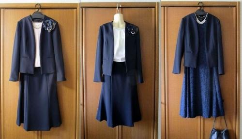 50代母親卒業式入学式スーツ 23区 着回し