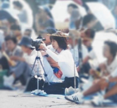 2000年息子運動会での私
