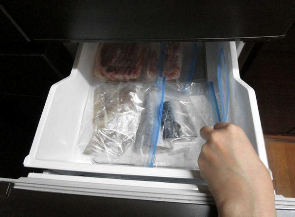 冷蔵庫ジップロック忘れない収納 (4)
