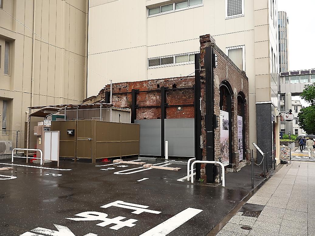 偶然発見された関東大震災の煉瓦遺構_1