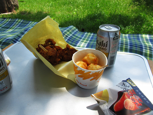 洞爺湖町小公園・中央公園 お昼ご飯