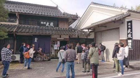 第6回作州武蔵蔵開き2021かなりのお客様でした。